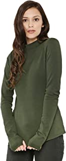 Koovs High Neck T-Shirt For Women