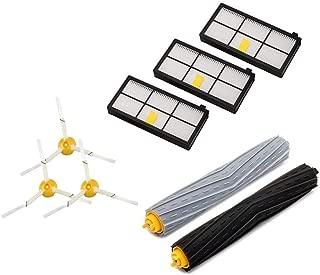 ルンバ800 900シリーズと互換性のある消耗品セット 870 880 980 対応互換セット ブラシ フィルター 8点