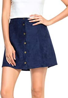 Best mini button skirt Reviews