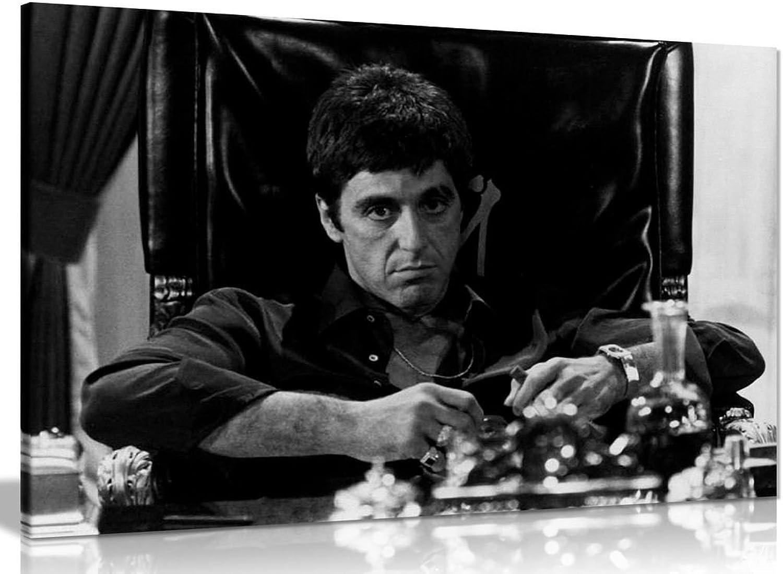 Wandbild, Motiv Motiv Motiv  Scarface, Al Pacino als Tony Montana, Kunstdruck auf Leinwand, A1 76x51 cm (30x20in) B071LRHDS4 e2454d