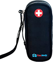 PracMedic Bags EpiPen Case - Fashionable Insulated Travel Medicine Kit - Immediate Access to Medications During Emergency Situations for Kids and Adults (Black)
