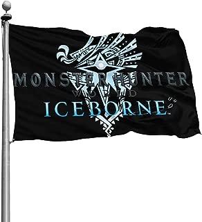 XLH.FXH Monster Hunter World Iceborne Flag Banner 4x6 Feet
