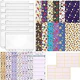 Beada 36 Piezas de Bloc de Notas de PlanificacióN Presupuestaria con Sistema de Sobres en Efectivo para Carpetas A6, para Uso Escolar y Administradores de Viajes - Colores Mezclados