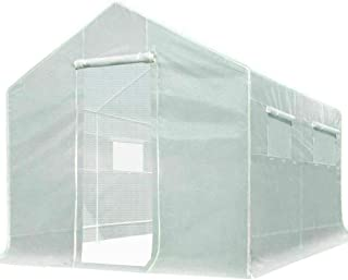 Quictent 10x9x8 ft Portable Tunnel Greenhouse for Outdoors 2 Zipper Mesh Doors Large Walk-in Garden Plant Greenhouse with ...