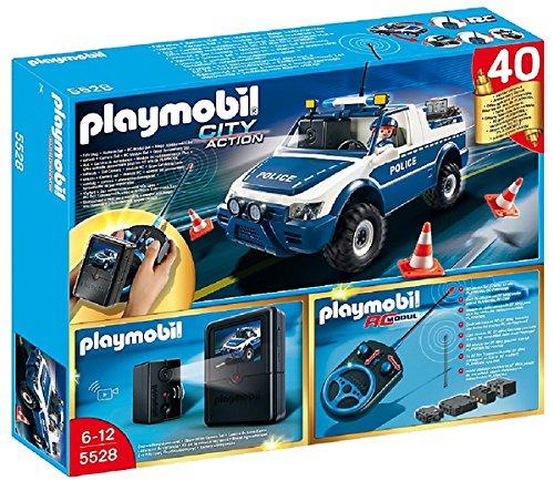 PLAYMOBIL City Action - Policías - RC Coche de Policía con Cámara - 5528