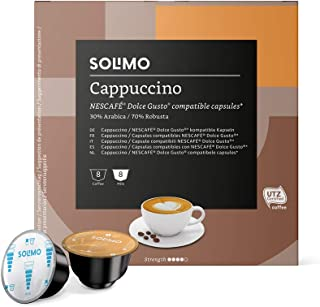 Solimo - Dolce Gusto Cappuccino - 96 Capsules (6 Paquets x 16)