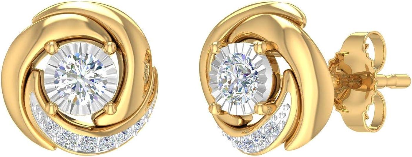 1/4 Carat Diamond Stud Earrings in 10K Gold