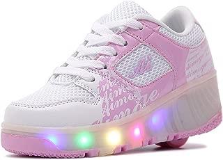 [Star] ローラーシューズ LED 光る靴 ローラースケート 男の子 女の子 キッズスニーカー キッズシューズ カップル靴