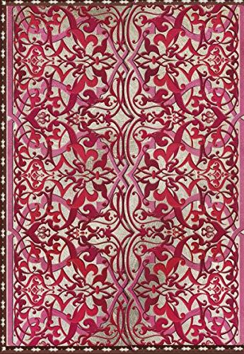 Cuaderno Persia 2: notitieboek met reliëf rose/rood (Persa)