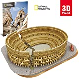 World Brands-Cubic Fun-Puzzle 3D City Traveller del Coliseo Romano, National Geographic (CPA Toy Group DS0976), color marron