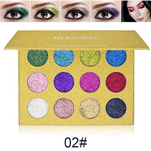 Yiitay 12 couleurs Shine Bright ombre à paupières scintillantes Diamond Shades cosmétiques maquillage arc-en-arc-en-perle perles Shadows
