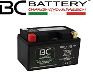 BC Lithium Batteries BCTZ10S-FP Batteria Moto Litio LiFePO4, Nero, 1