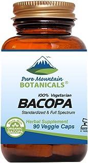 Bacopa Monnieri Capsules - 90 Vegan Caps with Organic Bacopa & Standardized Bacopa Extract