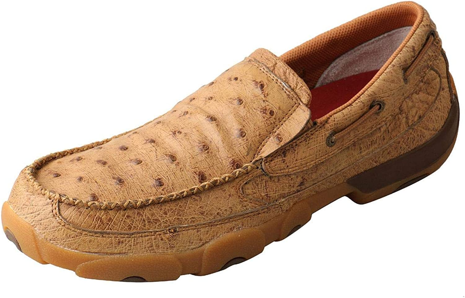 OFFicial store Twisted X Men's Ostrich Print Bargain Driving Moc Shoes Toe