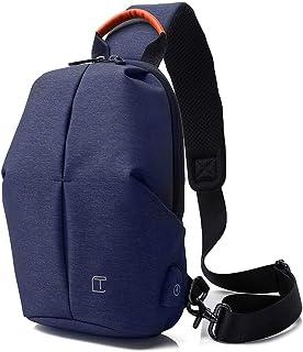 Mesonoda Sling Bag Crossbody Backpack Travel Shoulder Chest Daypack for Men & Women Blue