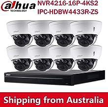 Dahua 4MP Varifocal PoE IP Dome Security Camera System (4216+4433R-ZS(8PCS))