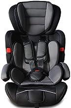 Todeco - Silla de Coche para Bebés y Niños, Asiento Elevador para Coches - Estándar/Certificación: ECE R44/04 - Negro, 9 a 36 kg