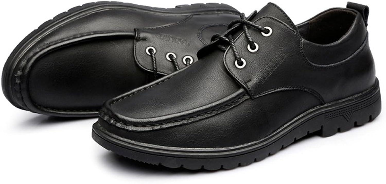 Dundun-schuhe 2018 Herren Casual Oxford Schuhe schnüren schnüren schnüren Sich echtes Leder Classics Business Loafers für Herren (Farbe   Schwarz, Größe   41 EU)  eb5213