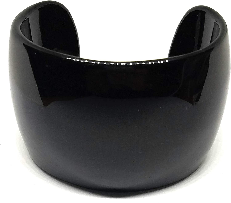 Cookie Lee Metropolitan Jet Black Cuff Bracelet (a19) 88071