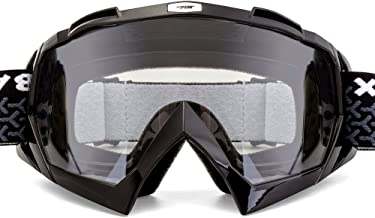 BATFOX Motorcycle Goggles Dirt Bike ATV Motocross Safety ATV Tactical Riding Motorbike Glasses Goggles for Men Women Youth Fit Over Glasses UV400 Protection Shatterproof (Black&clear)