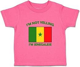 Custom Baby & Toddler T-Shirt I'm Not Yelling I Am Senegalese Senegal Cotton