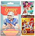 2019 Panini Score Football Card FACTORY SEALED Hanger Box with Four Patrick Mahomes Custom Football Cards - 64 Cards Total
