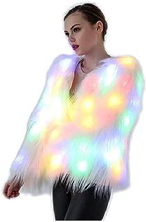 Electric Styles LED 人造皮草剪裁夹克