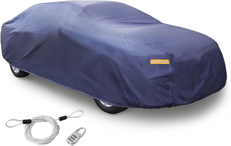 uxcell Max 56% OFF 3L+ Purple Car Cover Rain Snow Japan's largest assortment 1 Sun x Resistant Heat 480
