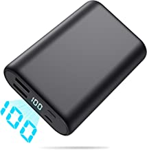 Portable Charger, Ekrist 16800mAh Ultra-Compact Power Bank with LCD Display + 2 Port USB External Battery Pack, Smaller High-Speed Travel Charging, Cell Phone Backup for Samsung Galaxy/iPad/Smartphone