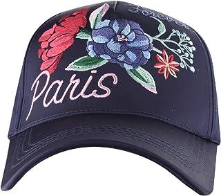 MINAKOLIFE Women's Vintage Paris Rose Shiny Baseball Hat Cap