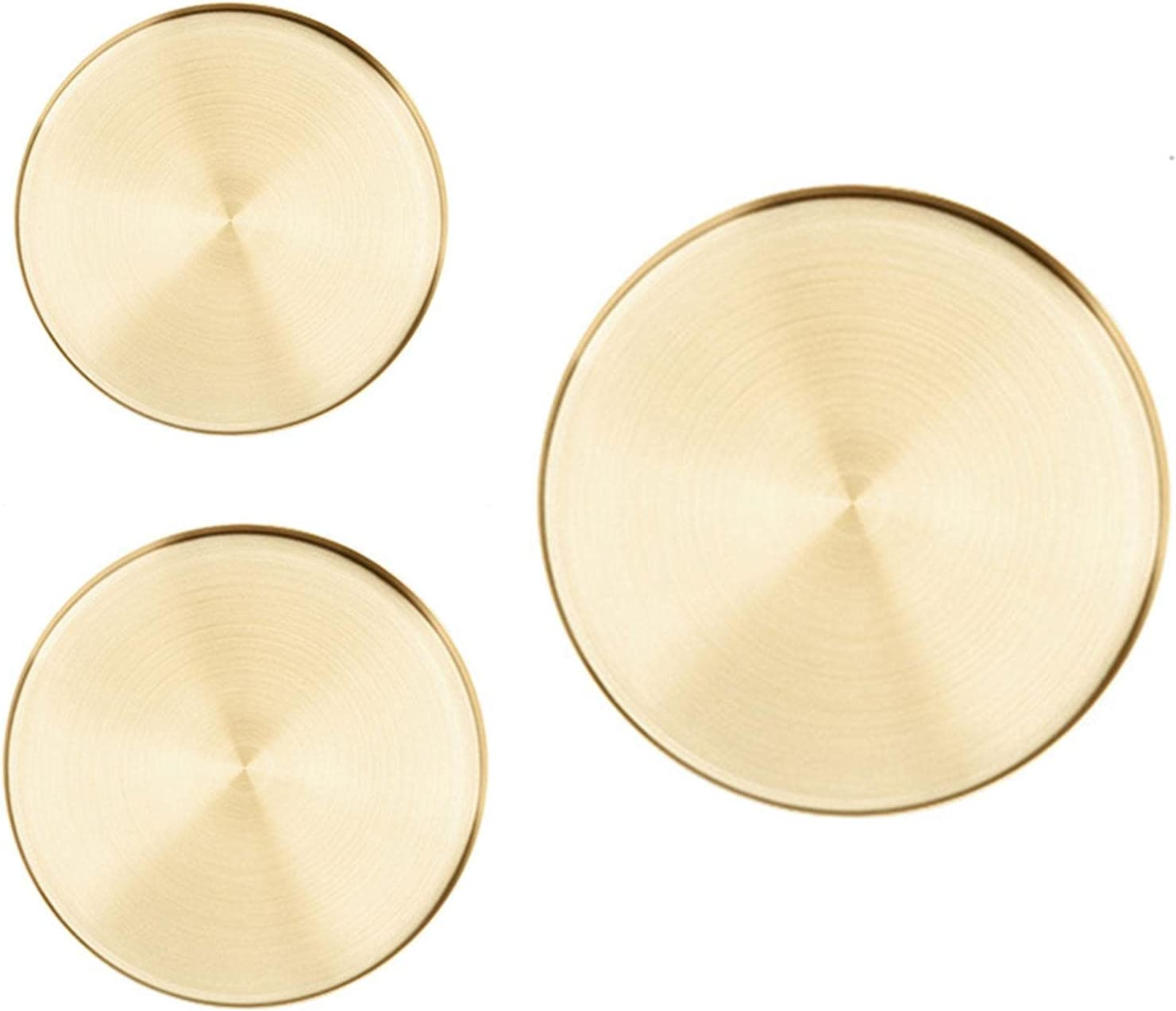 New Shipping Free Gold Round Storage Trays Stainless Low price Steel Tray Desktop