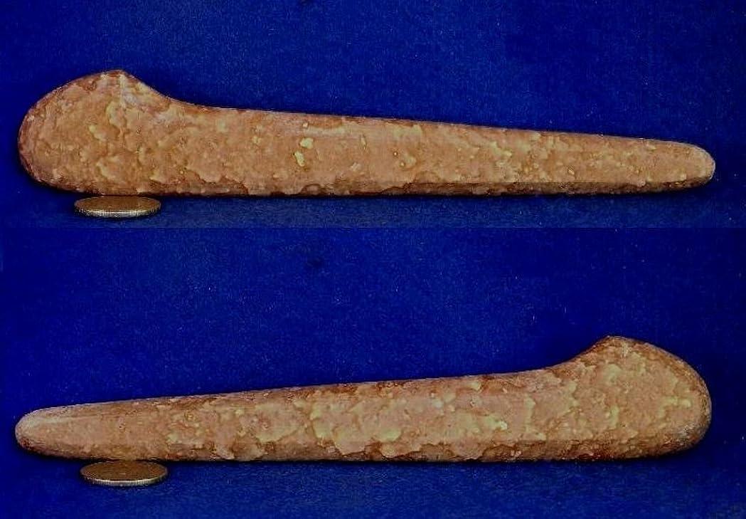 決定する着実にタバコ姫川薬石 虎模様 手造りかっさ&ツボ押し棒型 182mm120g