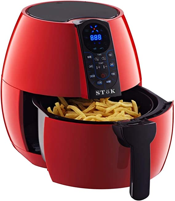 SToK 4 Liters 1500W Smart Rapid 3D Air Technology Digital Air Fryer With Double Layer Grill, Red : Buy Online at Best Price in KSA - Souq is now Amazon.sa: Home
