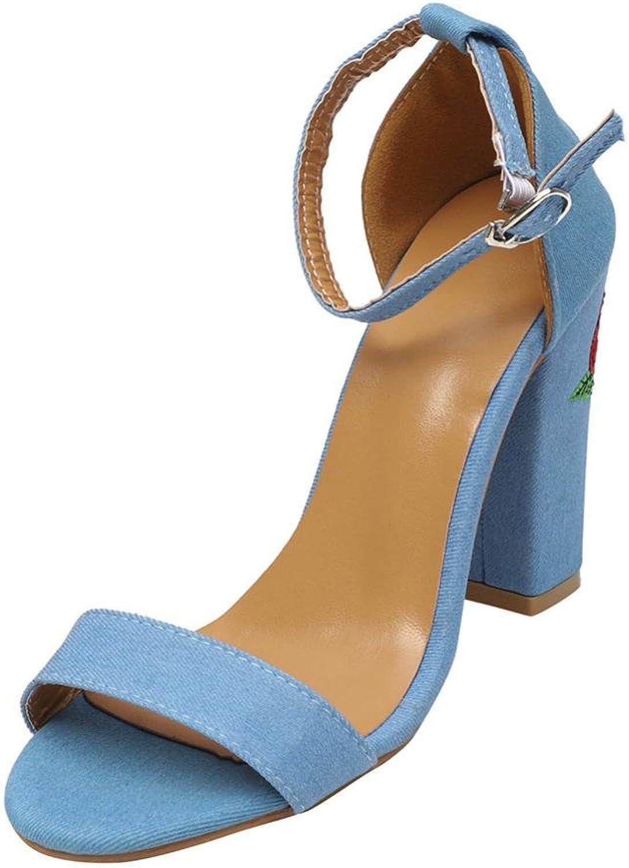 Goodtrade8 Universal Bohemia Sandal for Women, Ankle Buckle Strap Comfort Platform Wedge High Heel Sandal Summer shoes