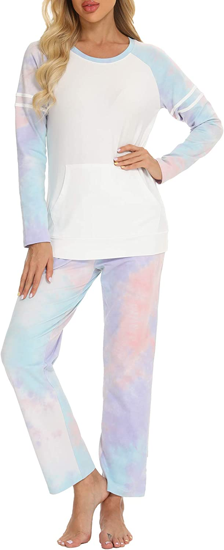 TIKTIK Women Pajamas 新作送料無料 Set 正規激安 Long Sleepw Sleeve Two-Piece Casual