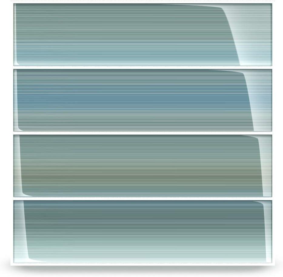 Selling rankings Bodesi Wintermoss Max 55% OFF Glass Subway Tile Backsplash Kitchen Ba or for
