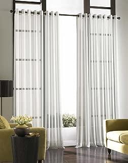 Curtainworks Soho Voile Sheer Grommet Panel, 59 by 132