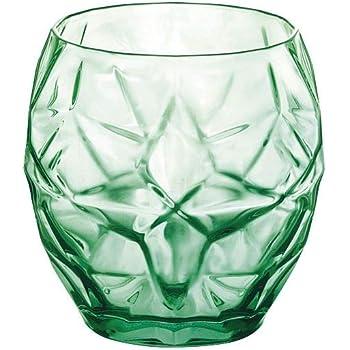 13.25 oz Bormioli Rocco Diamond DOF Ocean Glass Blue Set of 4