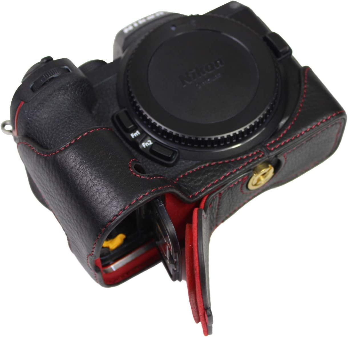 Bottom Opening Version for Sale Special Price Nikon Leather Half Z7 Protective All items free shipping Real