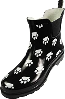 Womens Ankle Rain Boots - Ladies Waterproof Winter Spring Garden Boot