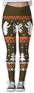 XMKWI Christmas Polar Bear Women's Power Flex High Waist Yoga Pants Workout Tights Leggings Trouser