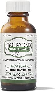 Jackson's #10 NAT phos 6X- Certified Vegan, Lactose-Free Schuessler Tissue Cell Salt - Made in The USA (500 pellets)
