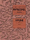 test pieces for orchestral auditions - violin: excerpts from the operatic and concert repertoire