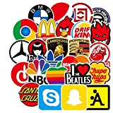 BLOUR 100 Uds monopatín a la Moda Logotipo de la Marca Pegatina Impermeable para Equipaje Coche Guaitar monopatín teléfono portátil Bicicleta Pegatinas