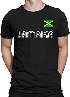 SpiritForged Apparel Jamaica Soccer Jersey Men's T-Shirt