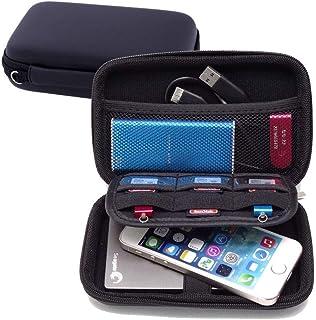 FOOKANN Hard Drive Storage Case, Waterproof Electronic Accessories Organizer Bag For 2.5 Inch Hard Drives, Power Bank, USB...
