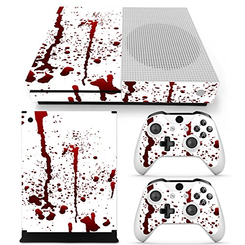 Microsoft XBOX ONE S Skin Design Foils Aufkleber Schutzfolie Set - Blood Motiv
