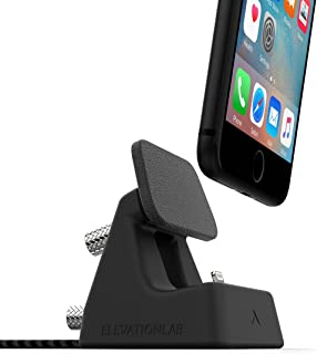 ElevationDock 4 - iPhone Dock, MFi-Certified, One Hand Undocking & Adjustable for Cases. (Matte Black) iPhone Xs/Xs Max/XR/X /8/8 Plus/ 7/7 Plus