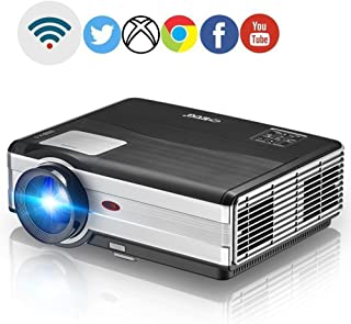 Wireless LED LCD 1080p Projector - Home Cinema Theater Multimedia Video Projectors 3500 Lumens Wxga Full HD Outdoor Movie ...