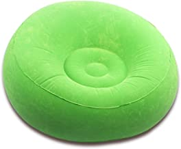 JTKDL Lazy Sofa,Flocking Inflatable Sofa,Lunch Break Recliner Inflatable Cushion (Color : Green)